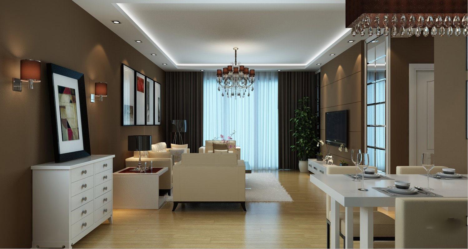 Modern Design Living Room 3d Model Max