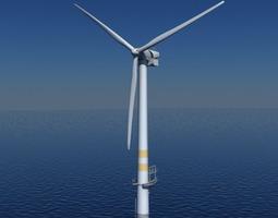 3D model Wind Turbine Offshore Realtime