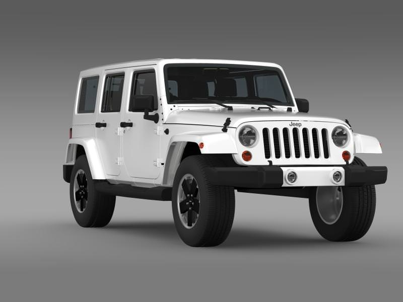 jeep wrangler unlimited altitude 2012 3d model max obj 3ds fbx c4d lwo lw lws. Black Bedroom Furniture Sets. Home Design Ideas