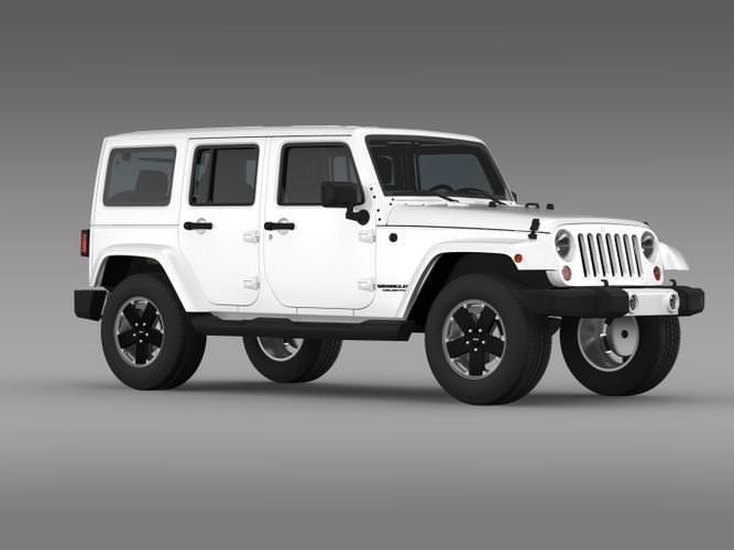 jeep wrangler unlimited altitude 2012 3d model max obj 3ds fbx c4d lwo. Cars Review. Best American Auto & Cars Review