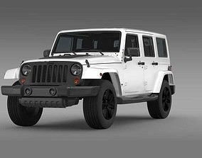 Jeep Wrangler Unlimited Altitude 2014 3D