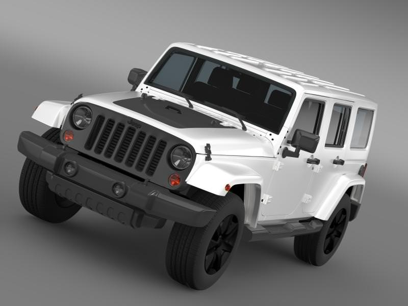jeep wrangler unlimited altitude 2014 3d model max obj 3ds. Cars Review. Best American Auto & Cars Review