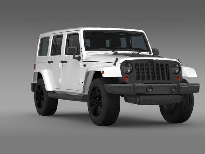 jeep wrangler unlimited altitude 2014 3d model max obj. Cars Review. Best American Auto & Cars Review