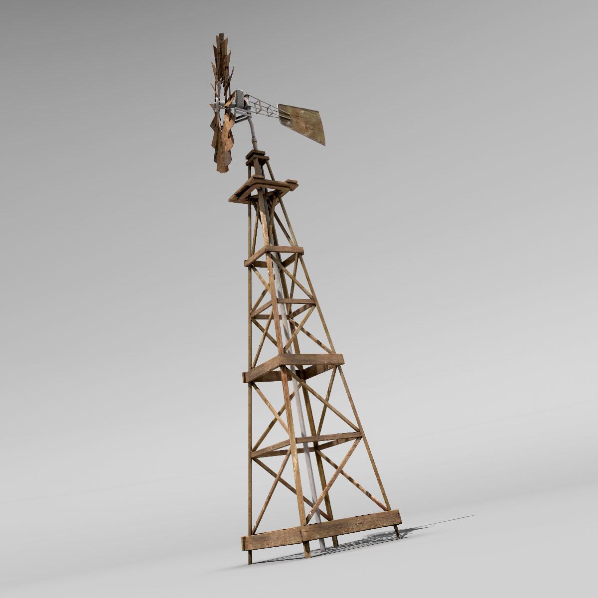 3D model Windmill VR / AR / low-poly MAX OBJ FBX LWO LW