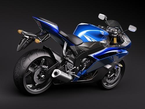 Yamaha r6 2009 3d model