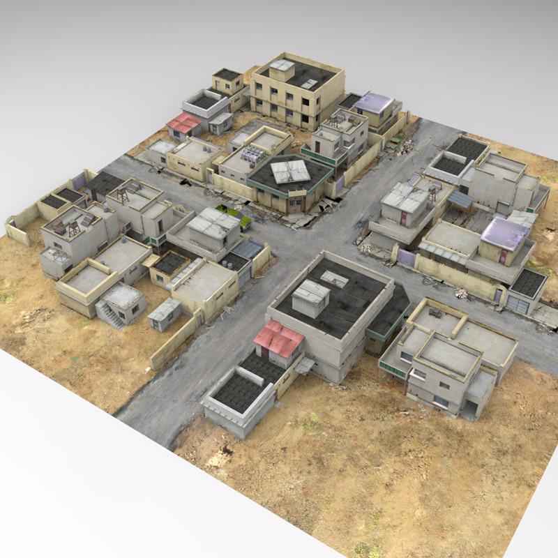 desert town poser vue 3d model rigged vue pz3 pp2. Black Bedroom Furniture Sets. Home Design Ideas