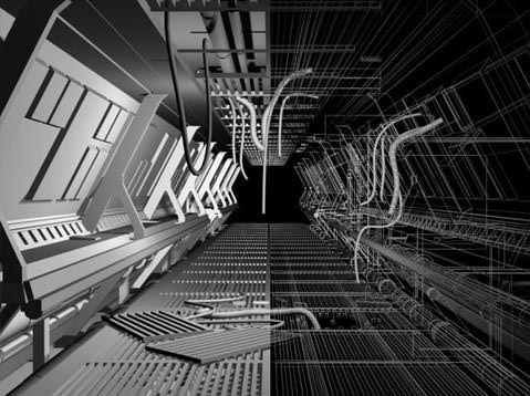Sci Fi Corridor Free 3d Model Max Cgtrader Com