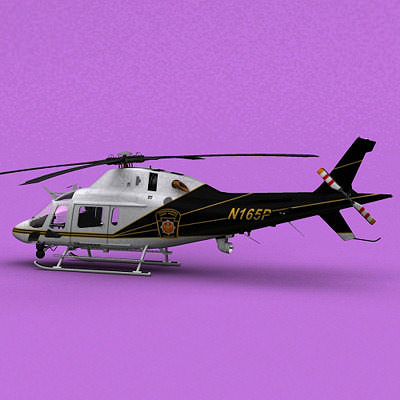 aw-119 pa state police  3d model animated max 3ds fbx c4d lwo lw lws ma mb 1