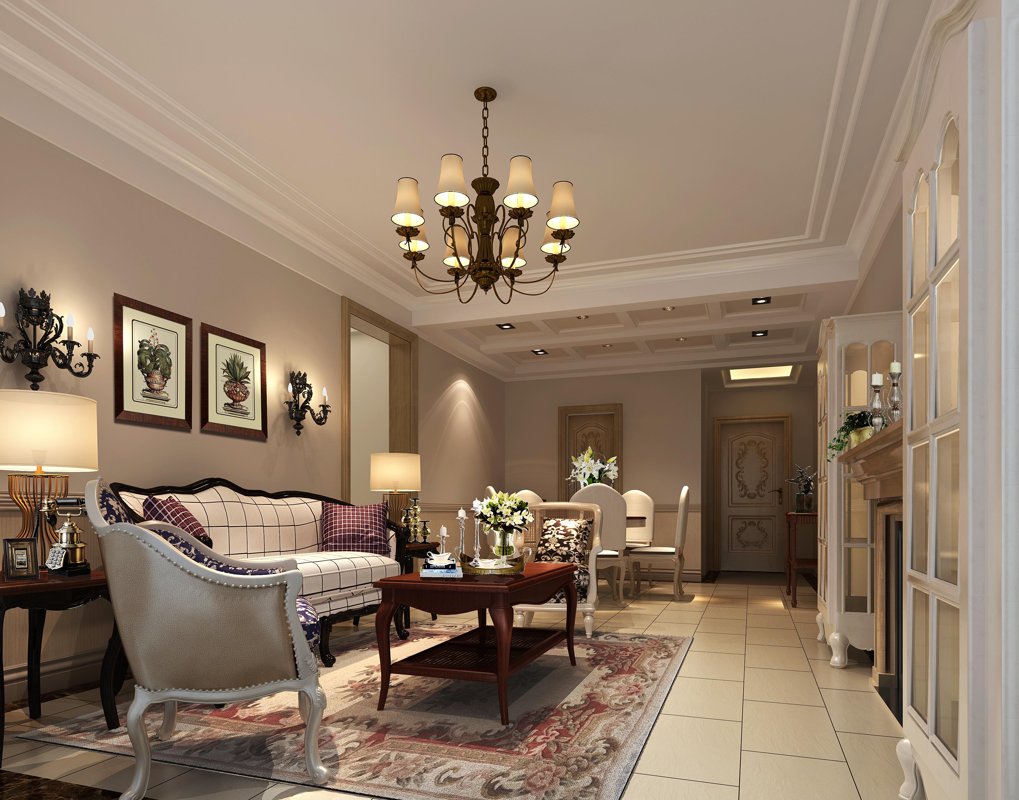 Modern design light fully furnished living 3d model for Living room 3d design