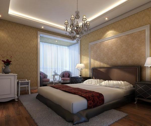 3d modern design fully furnished bedroom cgtrader