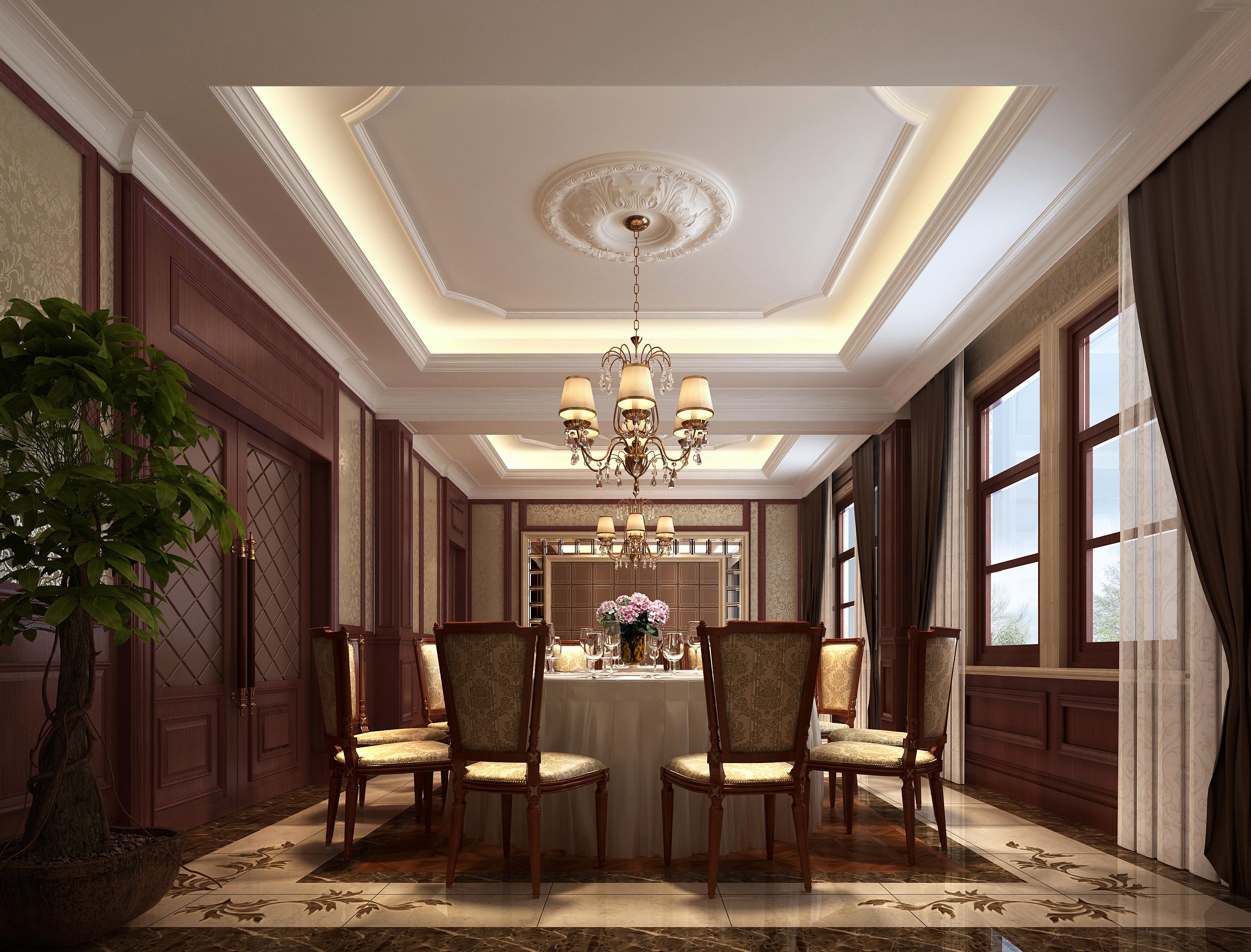 Modern interior dining room 3d model max for Dining room 3d model