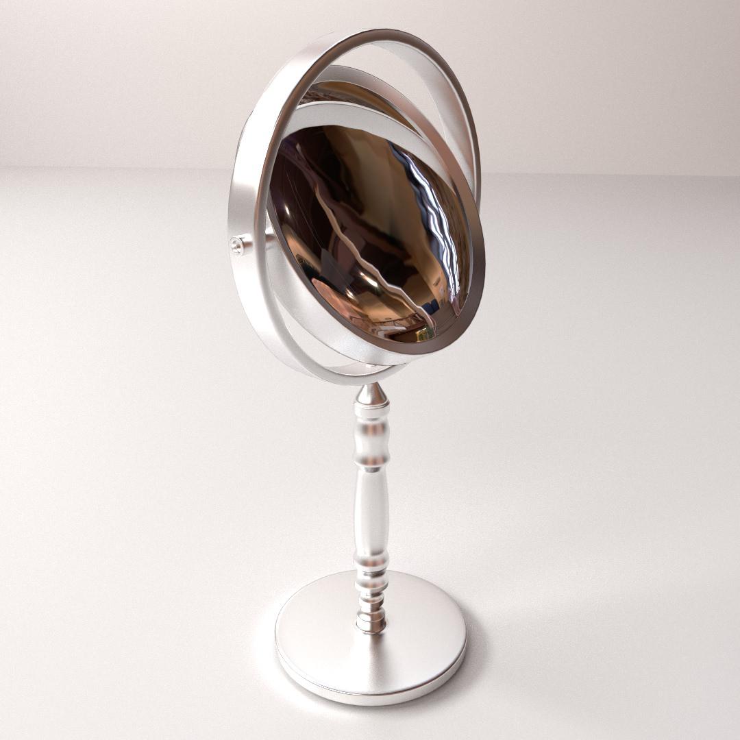 Mirror 3d model 3ds fbx blend dae for Mirror 3d model