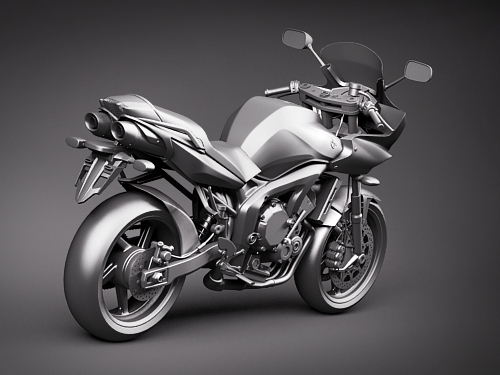 yamaha fz 6 fazer 2008 2009 motorcycle 3d 3d model. Black Bedroom Furniture Sets. Home Design Ideas