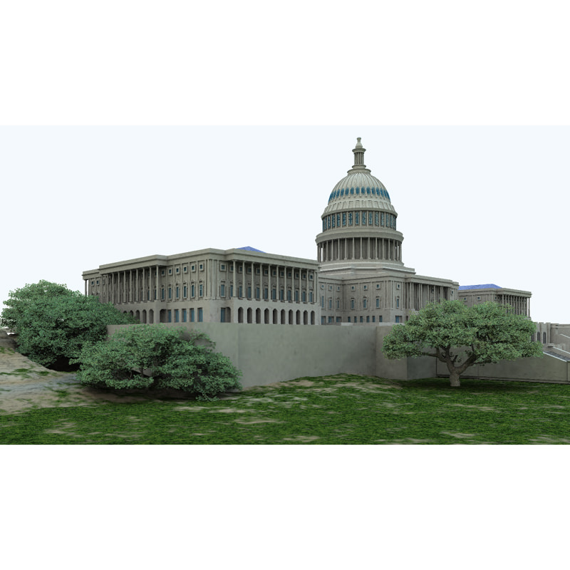 Us capitol poser vue 3d model vue pz3 pp2 for Architecture 3d vue 3d