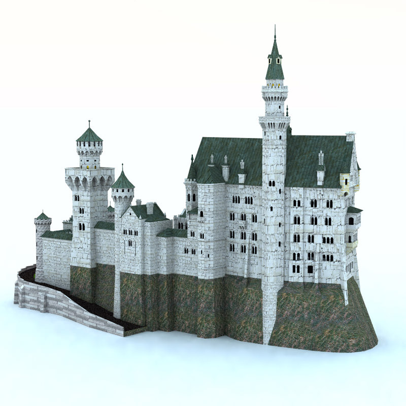 Neuschwanstein castle poser vue 3d model vue pz3 pp2 for Architecture 3d vue 3d