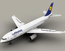 3D Airbus A300 Lufthansa