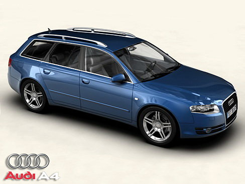 audi a4 avant 2005 3d model max obj 3ds mtl tga. Black Bedroom Furniture Sets. Home Design Ideas