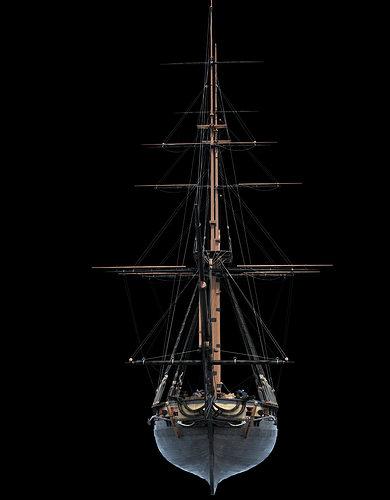 brig sail ship exuberant 3d model max 11