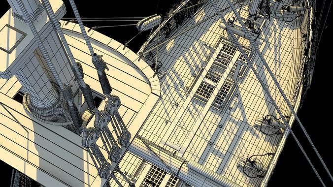 Brig sail ship Exuberant