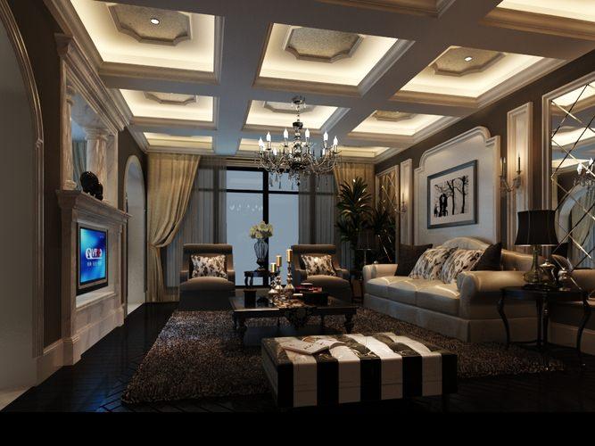 astounding 3d luxury living rooms | 3D Luxury Living Room mirror | CGTrader