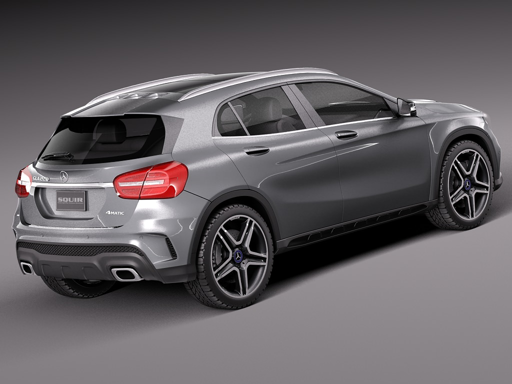 Mercedes benz gla amg 2014 3d model max obj 3ds fbx c4d for New model of mercedes benz