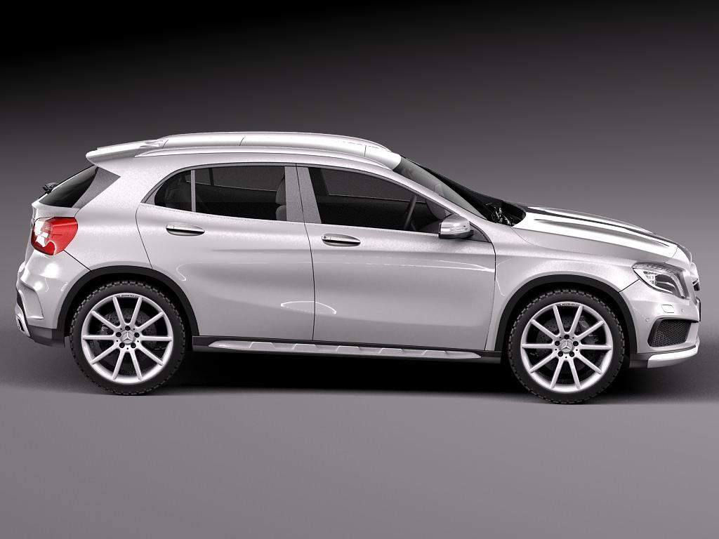 Mercedes benz gla 45amg 2014 3d model max obj 3ds fbx c4d for 2014 mercedes benz models