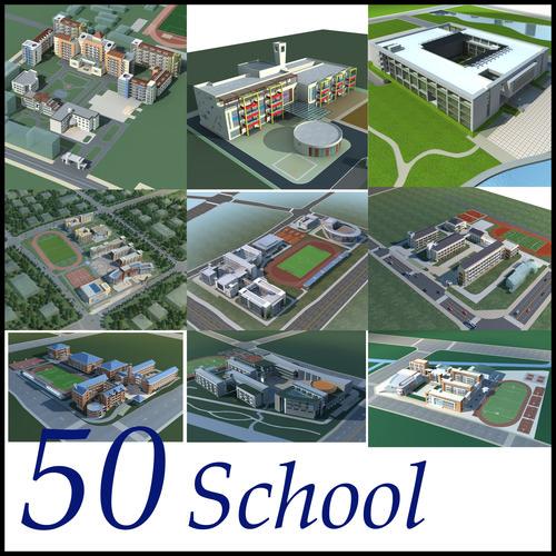 School Building Collection 50 items Vol23D model