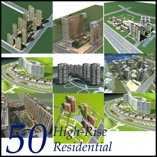 High-Rise Residential Building Collection ...3D model