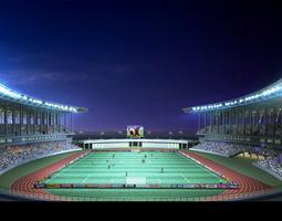3d model grand stadium 002  soccer arena olympic measurements