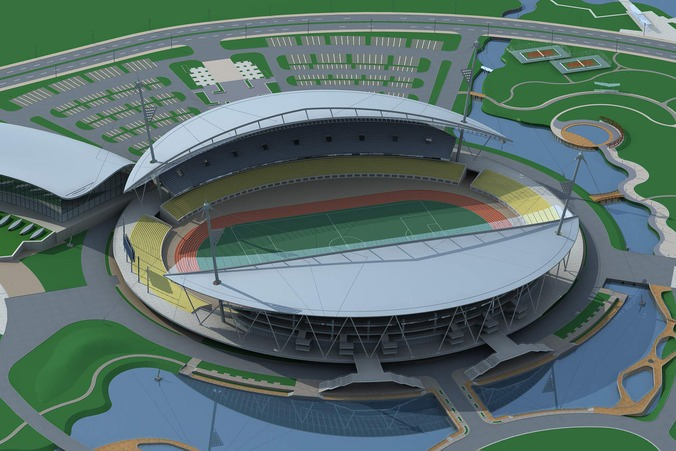 Grand Stadium 004 Football Arena By The Water3D model