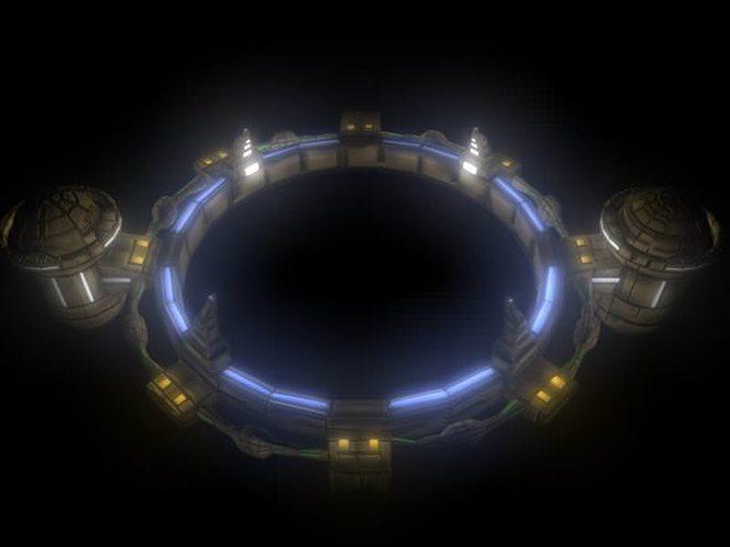 wormhole gateway 3d model c4d 1