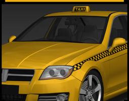 3D asset Generic Taxi