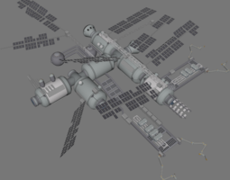 Prafira station 3D model