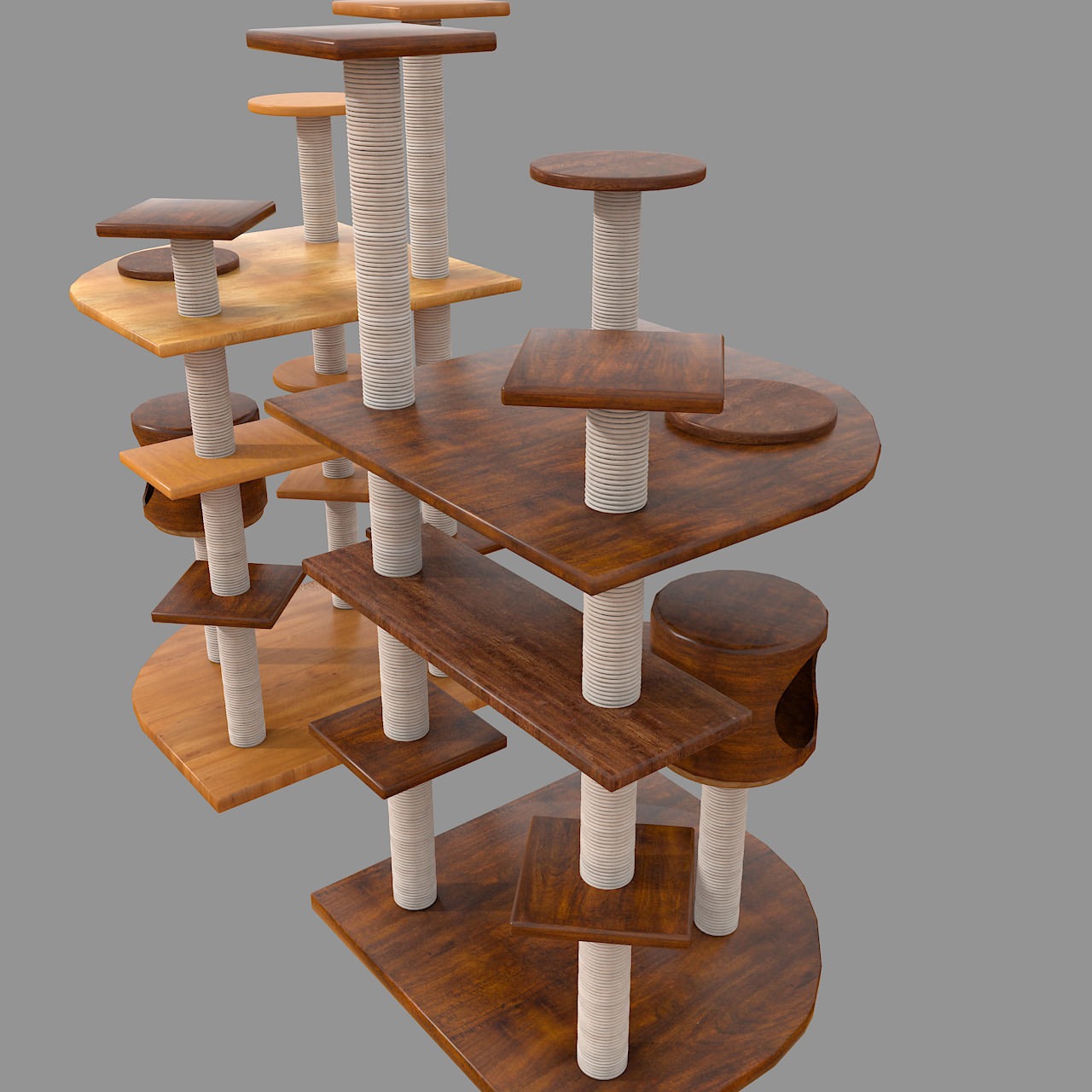 Wooden Cat Tree Construction Architectural Details Other