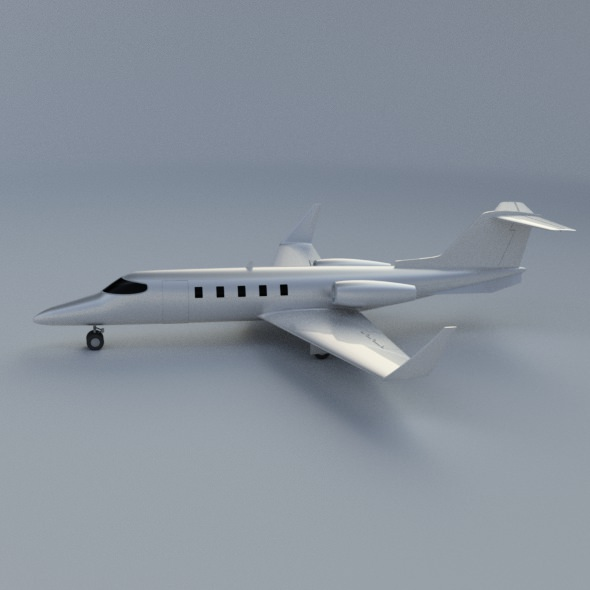 Learjet 28-29 Longhorn private jet CAD model | 3D model