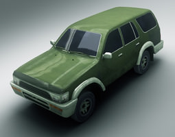 3d model game-ready suv 1