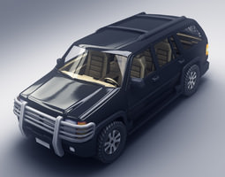 3d asset game-ready suv 3