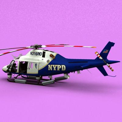 AW-119 Koala NYPD3D model