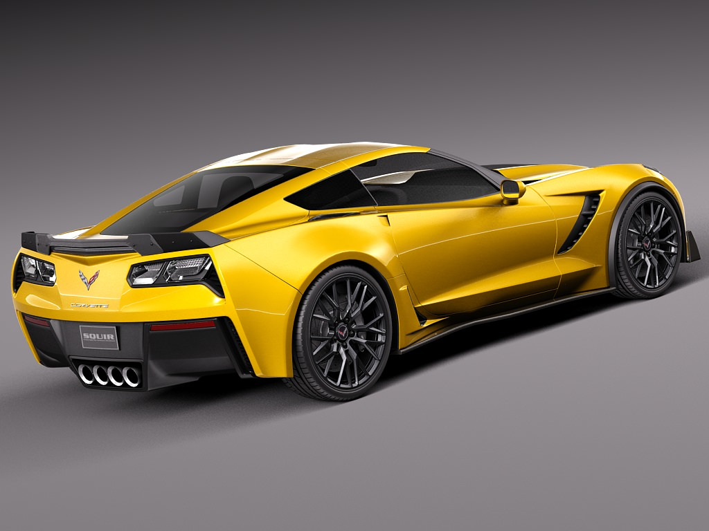 corvette c7 z06 2014 c 3d model max obj 3ds fbx c4d lwo lw lws. Cars Review. Best American Auto & Cars Review