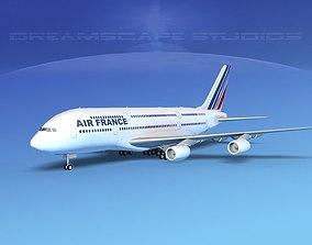 3D Airbus A380-800 Air France