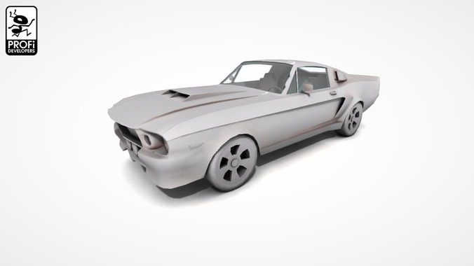 American Muscle Car Asset Cgtrader