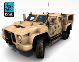army transport offroad 3d model low-poly max obj fbx