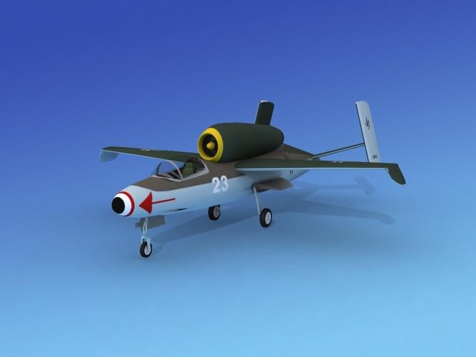 Dreamscape Heinkel 162 Salamander V01 3D Model rigged .max ...