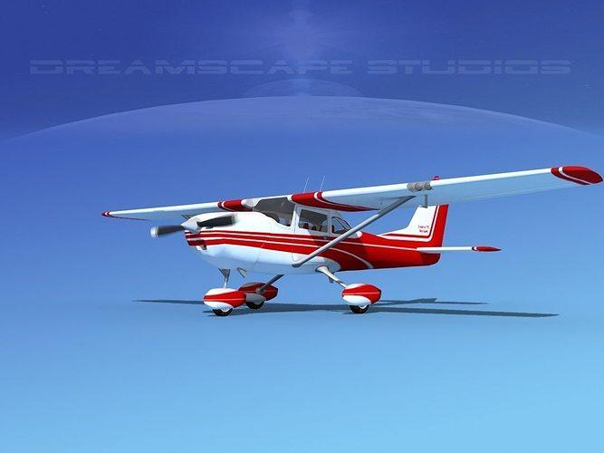 cessna 172 skyhawk 1967 v01 3d model animated max obj mtl 3ds lwo lw lws dxf dwg 1