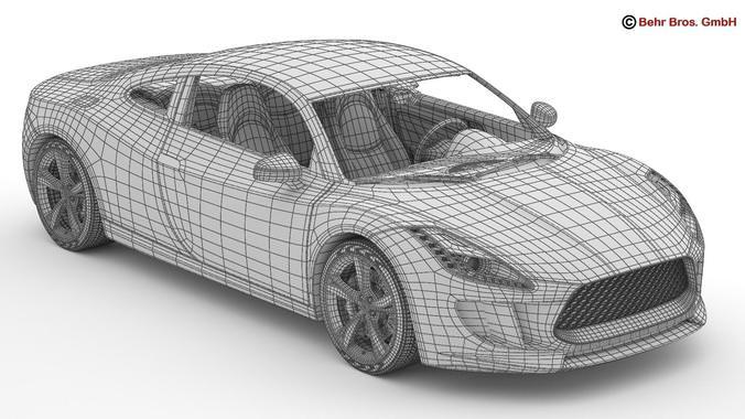 Generic sports car 3d model max obj 3ds fbx c4d lwo lw lws
