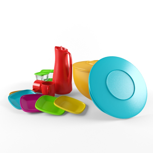Plastic Objects Free 3d Model Max