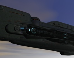 federation intergallactic cruiser 3d print model