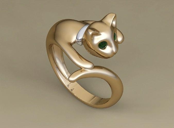 Ring cat3D model