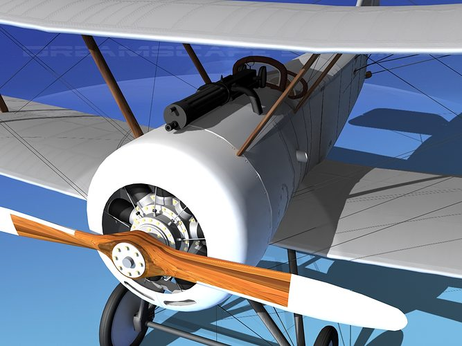 sopwith pup fighter unmarked 3d model max obj mtl 3ds lwo lw lws dxf stl 1
