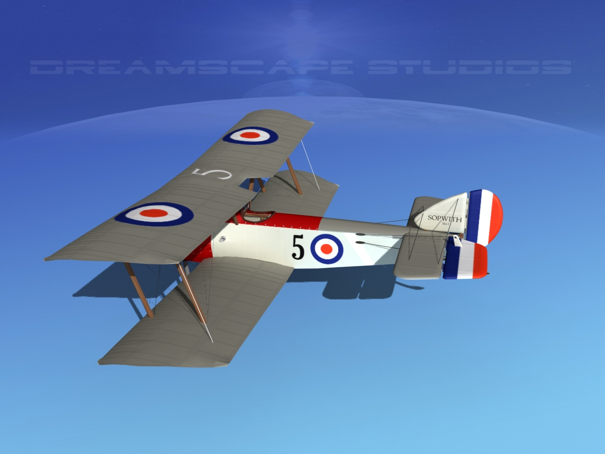 Sopwith Pup Fighter V01 3D Model rigged .max .obj .3ds ...